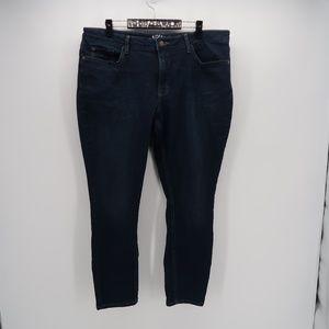 Lee Riders Mid Rise Skinny Jeans Dark Wash 18M